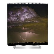 Lightning Thunderstorm With A Hook Shower Curtain