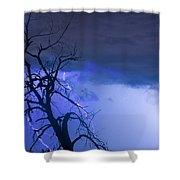 Lightning Tree Silhouette 38 Shower Curtain
