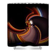 Lightning Wheel Shower Curtain