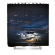 Lightning's Water Dance Shower Curtain by Steven Santamour