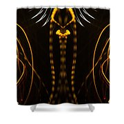 Lightpainting Panorama Print Photograph 4 Shower Curtain