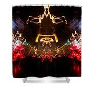 Lightpainting Panorama Print Photograph 6 Shower Curtain