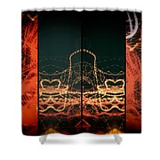 Lightpainting Quads Art Print Photograph 1 Shower Curtain