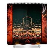 Lightpainting Quads Art Print Photograph 1 Shower Curtain