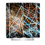 Lightpainting Quads Art Print Photograph 3 Shower Curtain