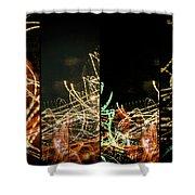 Lightpainting Quads Art Print Photograph 5 Shower Curtain