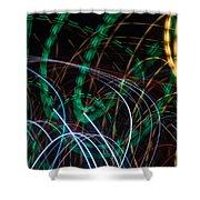 Lightpainting Single Wall Art Print Photograph 1 Shower Curtain