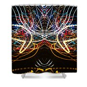 Lightpainting Symmetry Wall Art Print Photograph 1 Shower Curtain