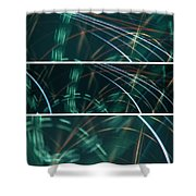Green Film Grain Lightpainting Abstract Shower Curtain