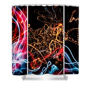 Lightpainting Triptych Wall Art Print Photograph 5 Shower Curtain