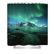 Lights Above Lofoten Shower Curtain