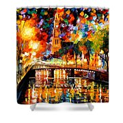 Lights And Shadows Of Amsterdam Shower Curtain