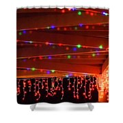 Lights At Christmas Shower Curtain