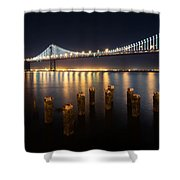 Lights By The Bay Shower Curtain