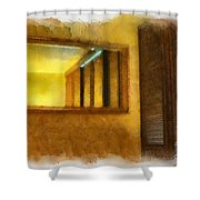 Lights Early Reflection Shower Curtain