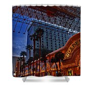 Lights In Down Town Las Vegas Shower Curtain