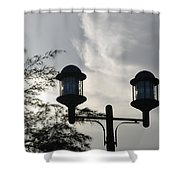 Lights In The Sky Shower Curtain