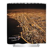 Lights Of Chicago Burn Brightly Shower Curtain