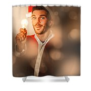 Lights Of Christmas Ideas Shower Curtain
