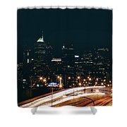 Lights Of Philadelphia Shower Curtain