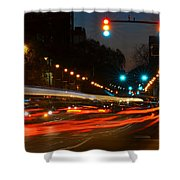 Lights Of The City Shower Curtain