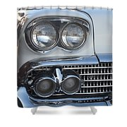 Lights On A '58 Chevy Shower Curtain