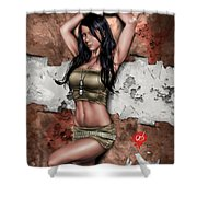 Lights Out 3 Shower Curtain