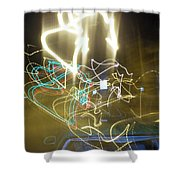 Lights That Attack Cars Shower Curtain
