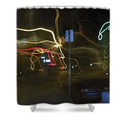 Lights That Attack Cars Two Shower Curtain