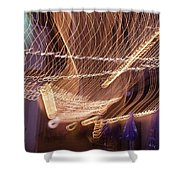 Lights That Dance Together Shower Curtain