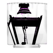 Lightshade In A Hint Of Purple Shower Curtain
