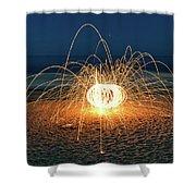 Lighty Fireworks Shower Curtain