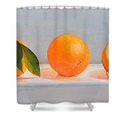 Ligne D Oranges 2 Shower Curtain