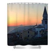 Ligurian Sunset Shower Curtain