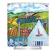 Lil Bit Country, Lil Bit Jersey Shower Curtain