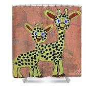 Lil Giraffes Shower Curtain
