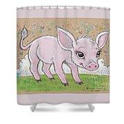 Lil Piglet Shower Curtain