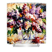 Lilac - Morning Mood Shower Curtain
