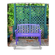 Lilac And Teal Garden Shower Curtain