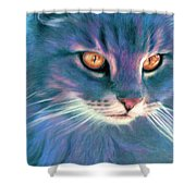 Lilac Cat Shower Curtain