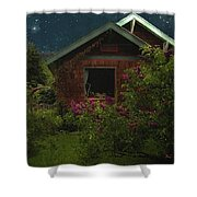 Lilac Cottage By Moonlight Shower Curtain
