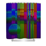 Lilac Doors Shower Curtain