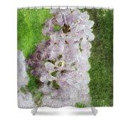 Lilac Dreams - Digital Watercolor Shower Curtain