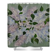 Lilac Flowers Expressing Harmony Shower Curtain