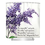 Lilac  Poem Shower Curtain