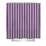 Lilac Purple Striped Pattern Design Shower Curtain