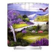 Lilac Valley Shower Curtain