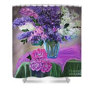 Lilacs 2 Shower Curtain