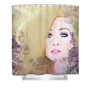 Lilacs And Lavender Shower Curtain