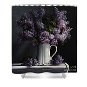 Lilacs/haviland Water Pitcher Shower Curtain